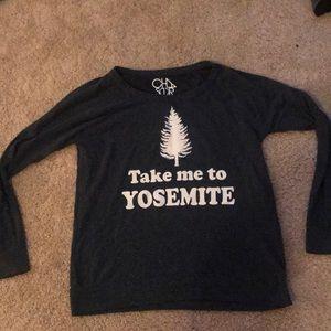 Chaser take me to yosemite sweatshirt